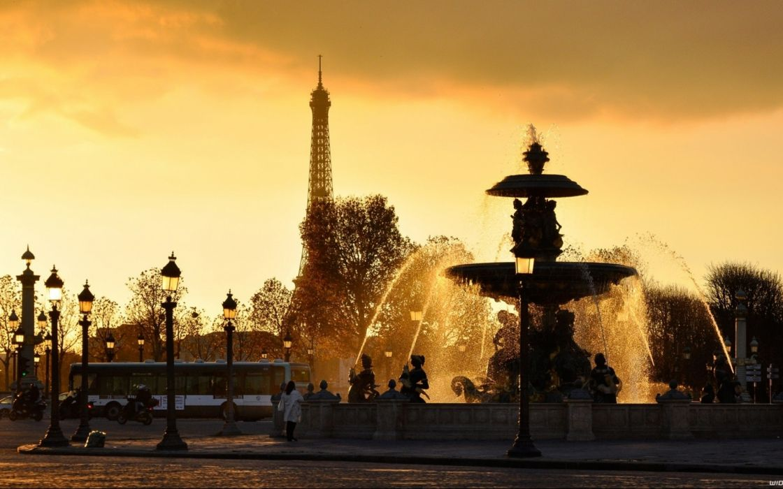 Paris Cityscapes Lanterns Fountains Travel eiffel tower wallpaper