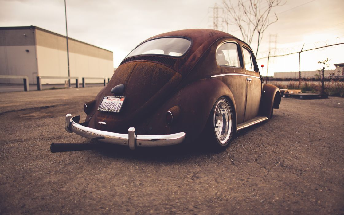 Volkswagen Bug Classic Car Classic Rust Warm Wheel tuning lowrider     r wallpaper