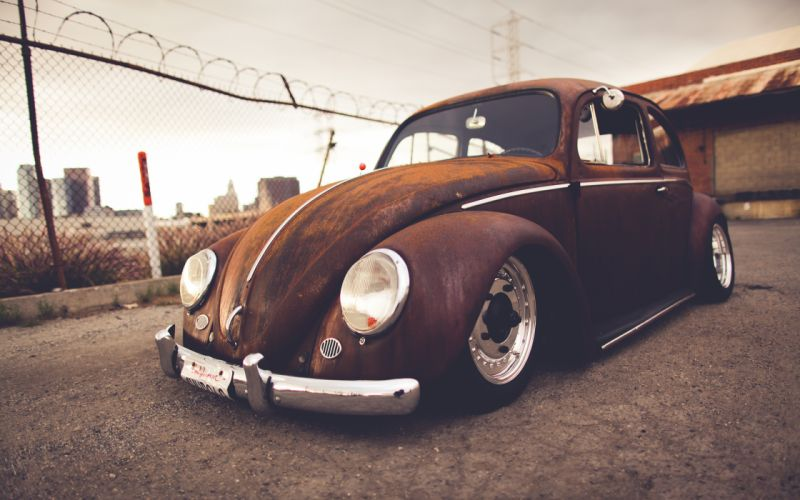 Volkswagen Bug Classic Car Classic Rust Warm Wheel tuning lowrider r wallpaper