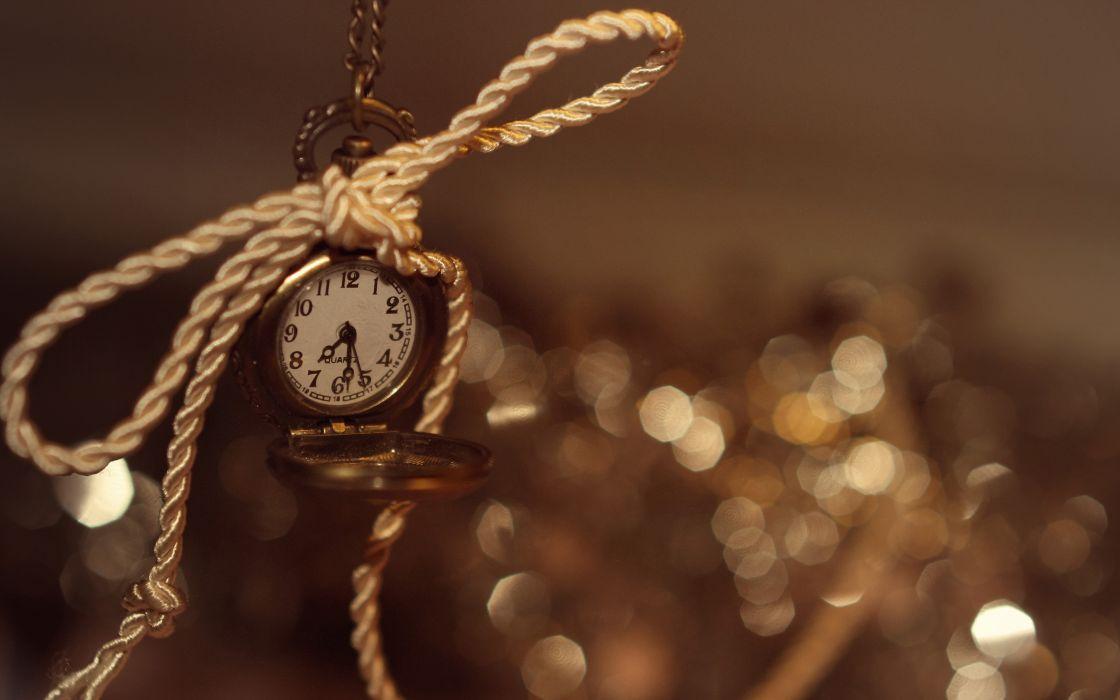 Watch Time Bokeh Rope clock wallpaper