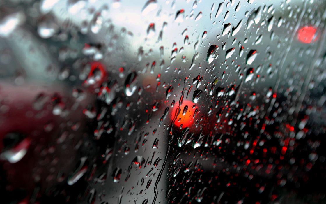 Water Drops Window Macro rain glass cars wallpaper