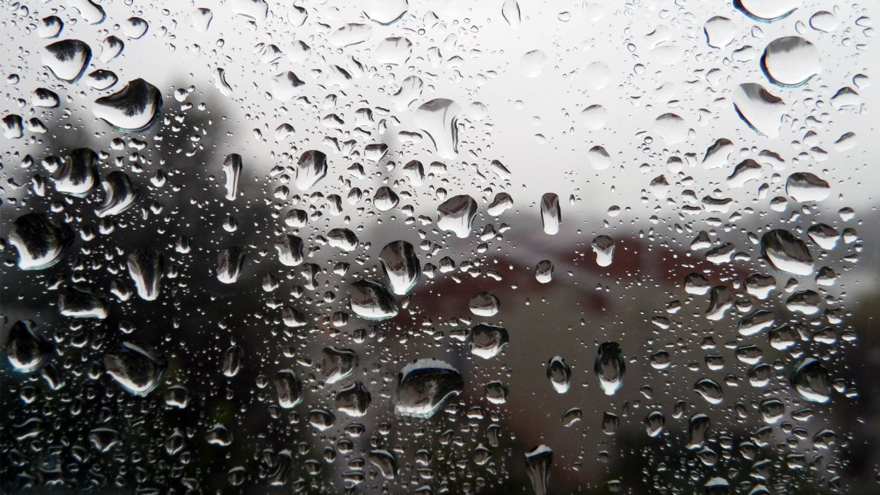 window drops glass rain storm abstract wallpaper