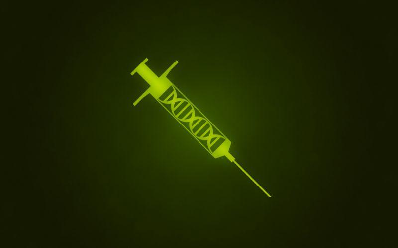 Syringe DNA Green vector wallpaper