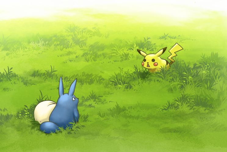 totoro pokemon wallpaper