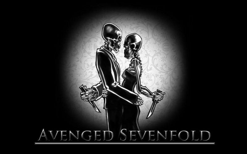 Avenged Sevenfold heavy metal rock dark skulls wallpaper