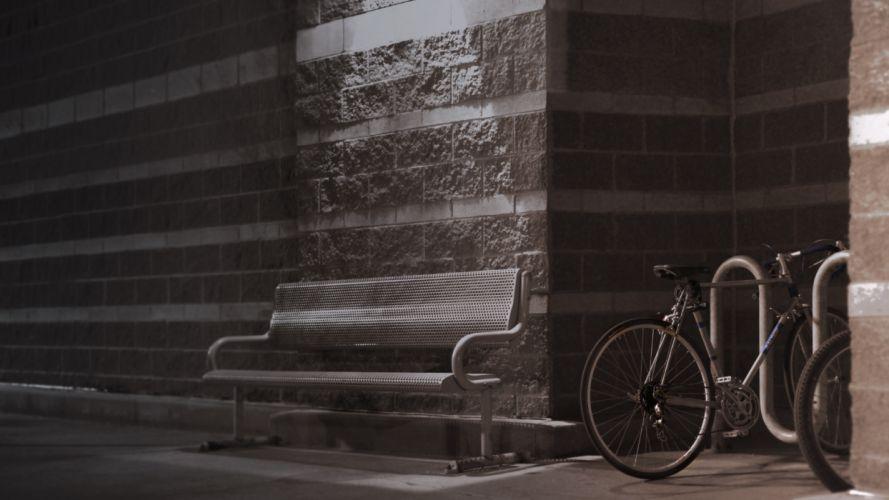 Bench Bicycle wallpaper