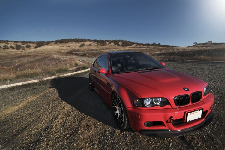 BMW M3 E46 tuning roads wallpaper