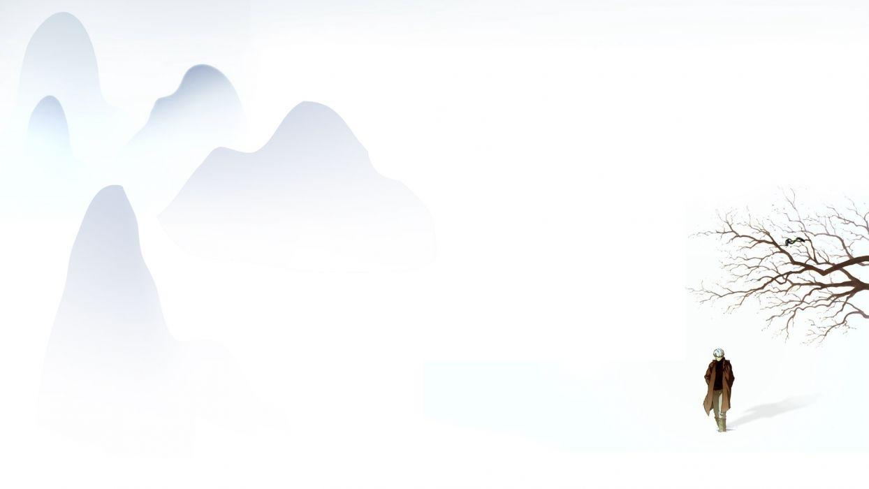 Anime White Mushi-shi Ginko wallpaper