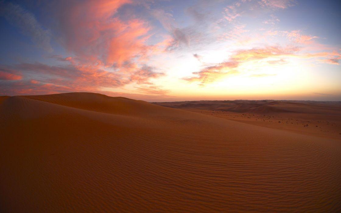desert  dusk  sunset  clouds dunes sky wallpaper