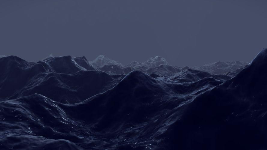 cg digital art landscapes mountains wallpaper