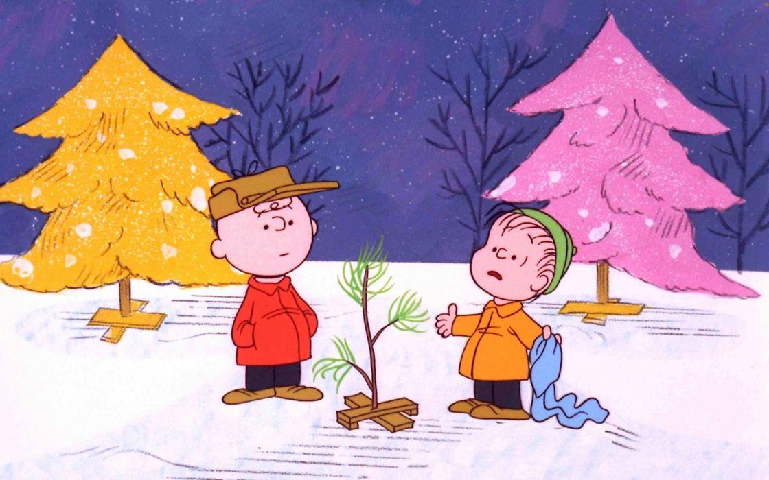 charlie brown christmas tree peanuts comics wallpaper