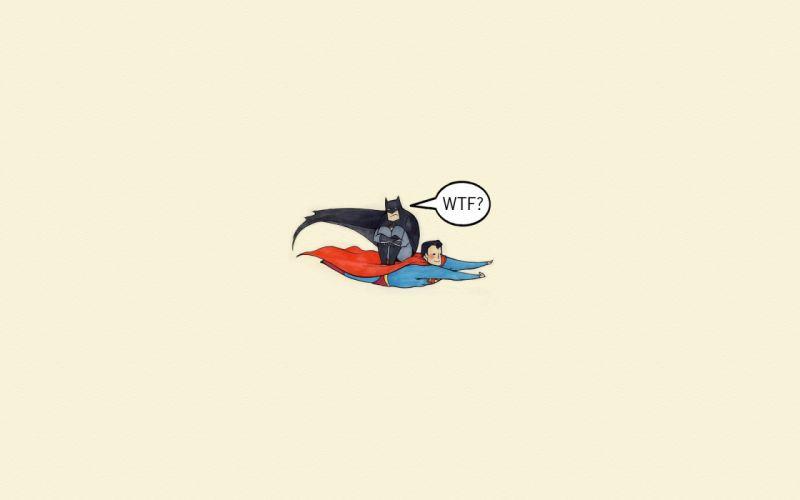 comics Batman Superman humor wallpaper