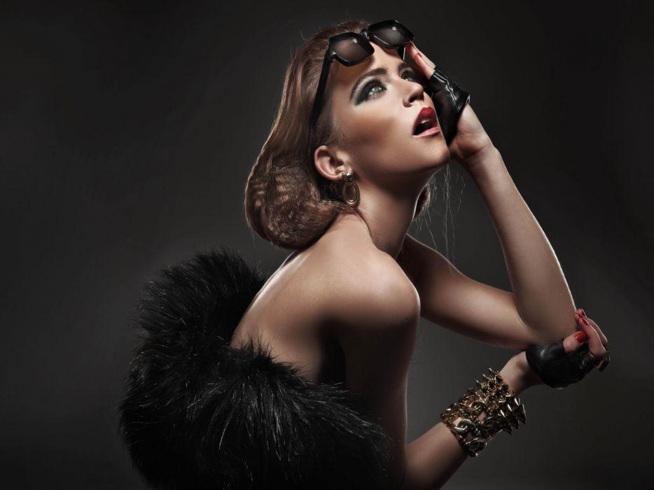 glasses women females girls models babes wallpaper