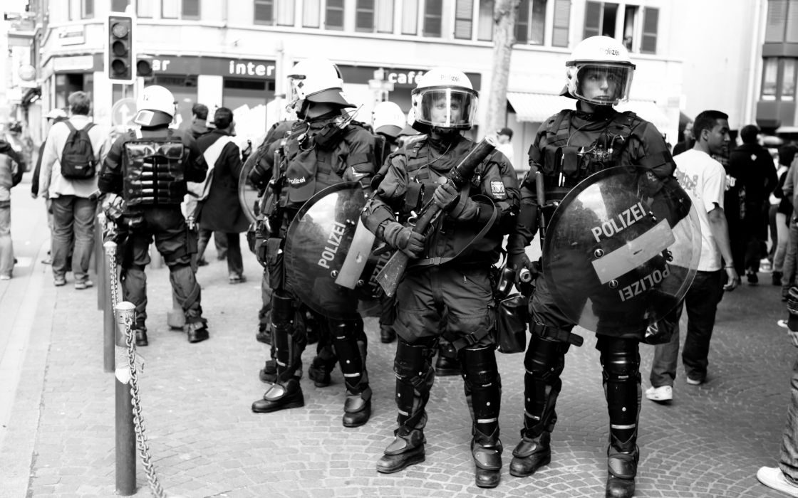 grayscale monochrome police anarchy people black white wallpaper