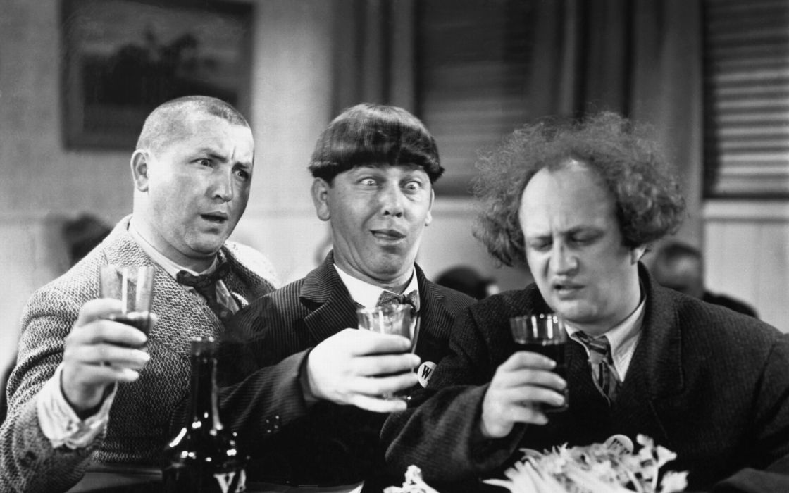 grayscale monochrome three stooges humor wallpaper 1920x1200