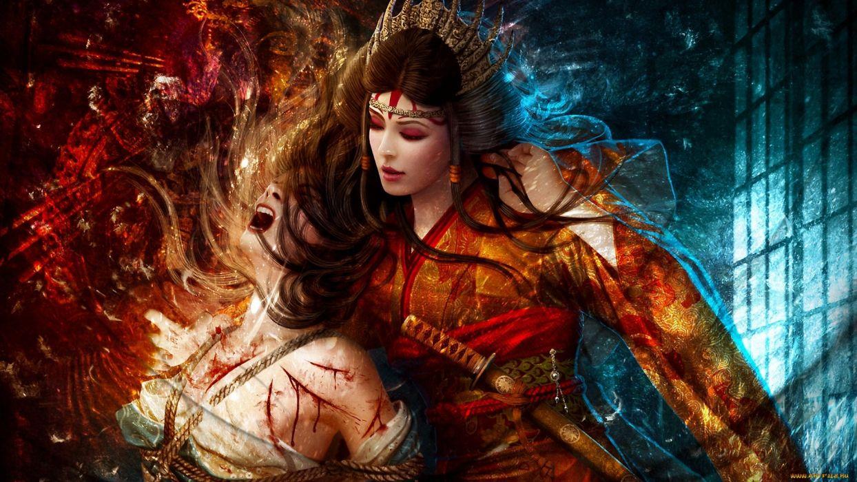 Fantasy art women females girls warrior weapons blood warrior fantasy art women females girls warrior weapons blood warrior wallpaper voltagebd Images
