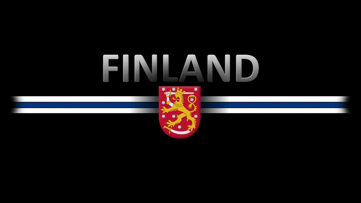 Finland crest flag wallpaper