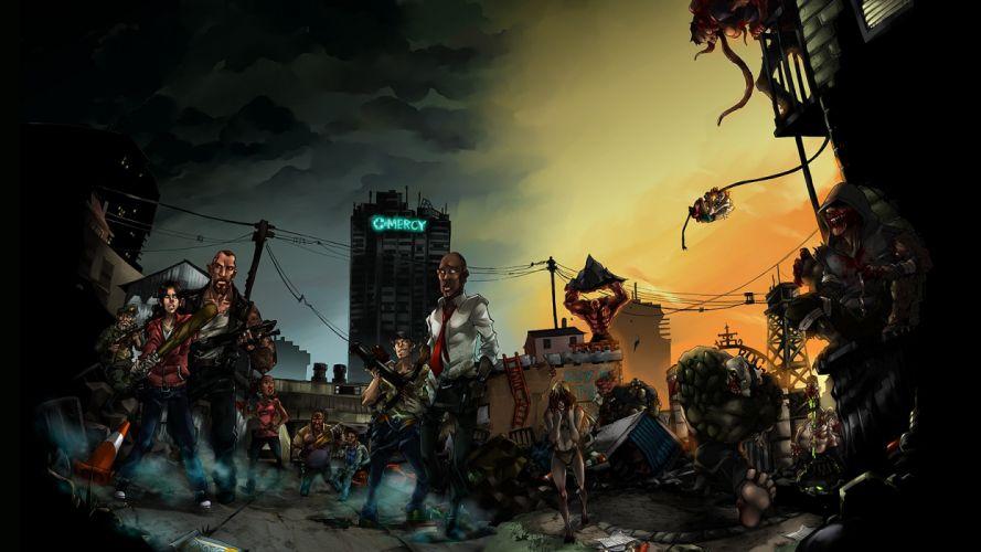 Left 4 Dead L4D Zombies dark wallpaper