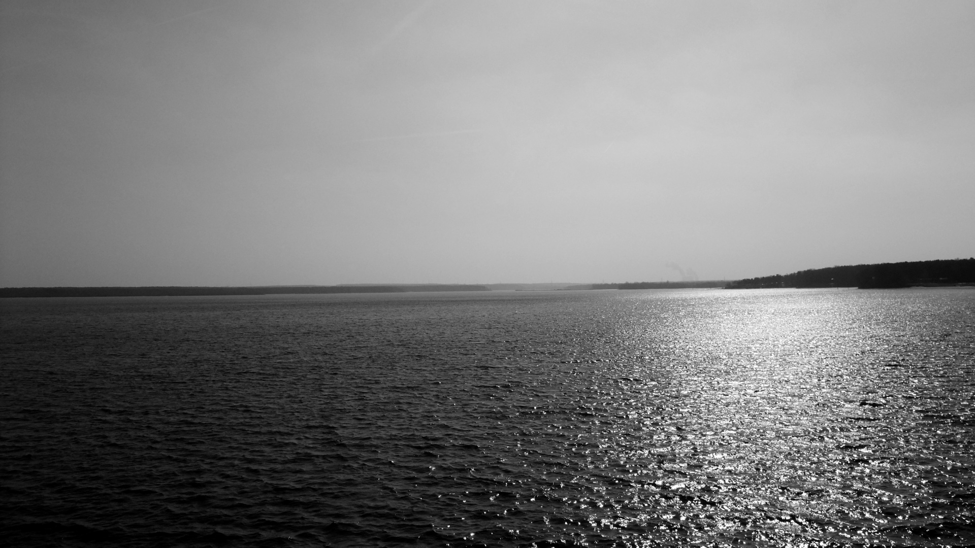 Lakes ocean black white sunlight reflection water sky ...