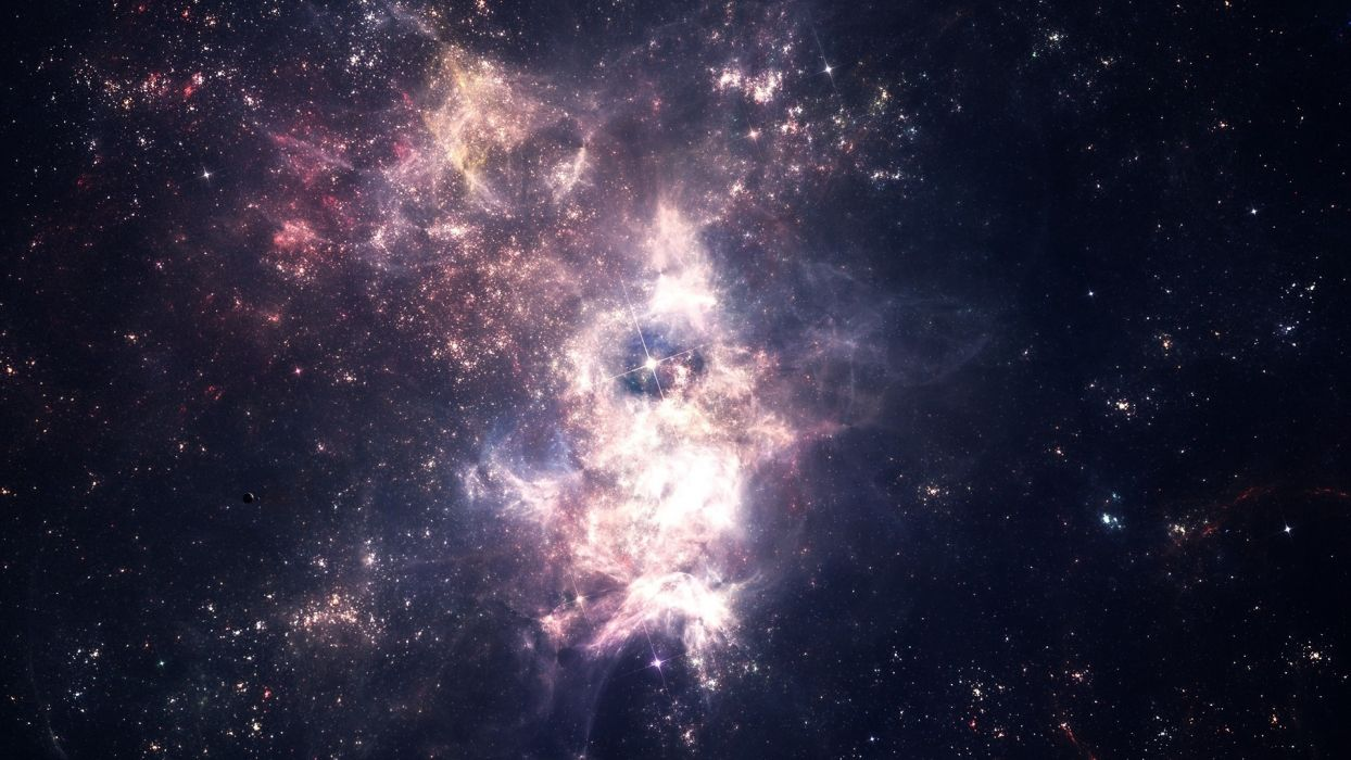 Nebula  Space  Star Cluster wallpaper