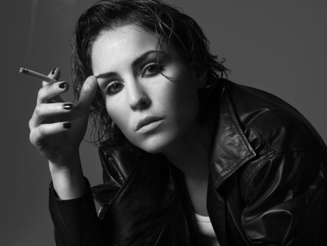 Noomi Rapace smoking monochrome cigarettes actress women females girls babes sexy face eyes wallpaper