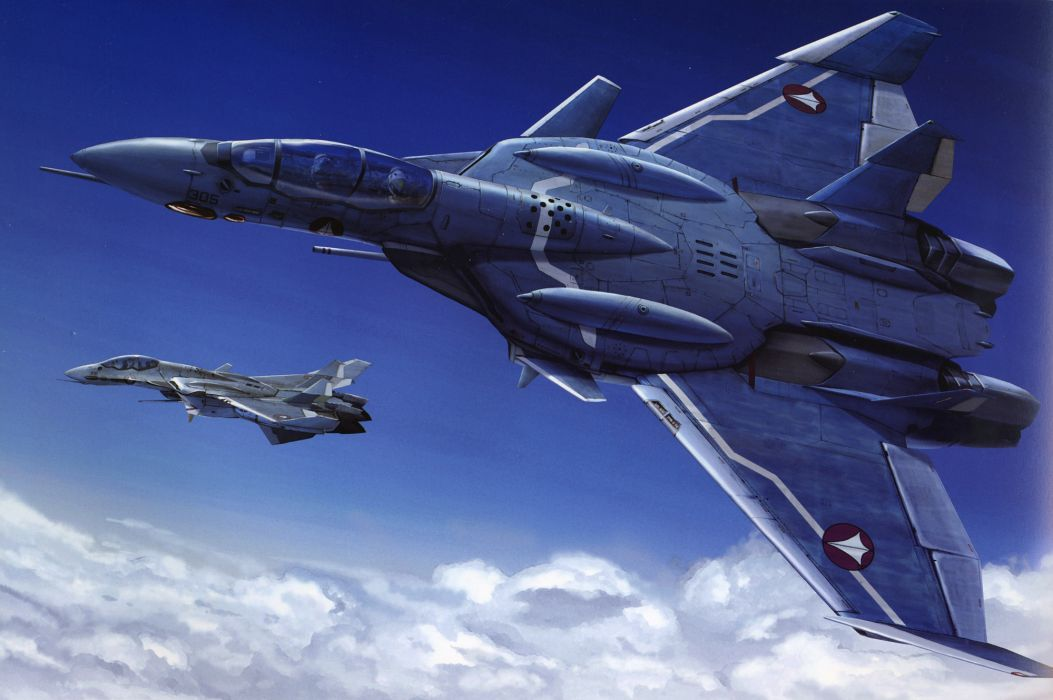Macross Anime Mecha Jet aircraft      u wallpaper