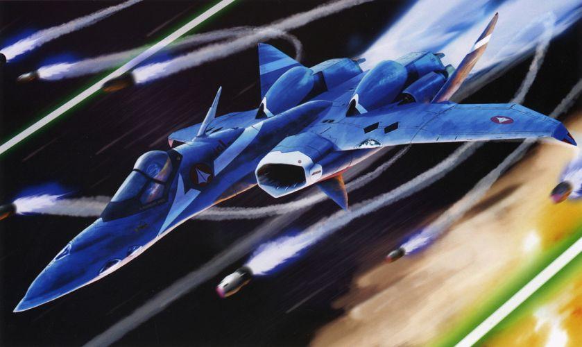 Macross Anime Mecha Jet Missiles wallpaper