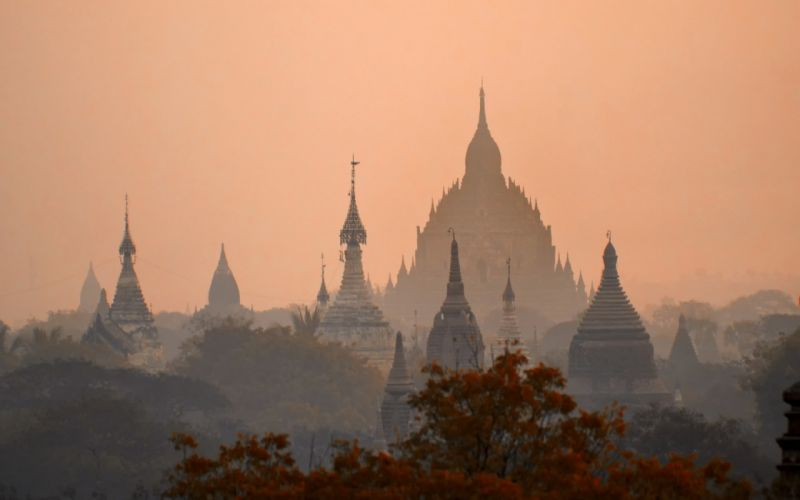 mandalay nyaungu myanmar cities temples castle buildings wallpaper