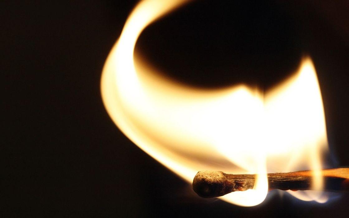 matchstick fire flames close-up wallpaper