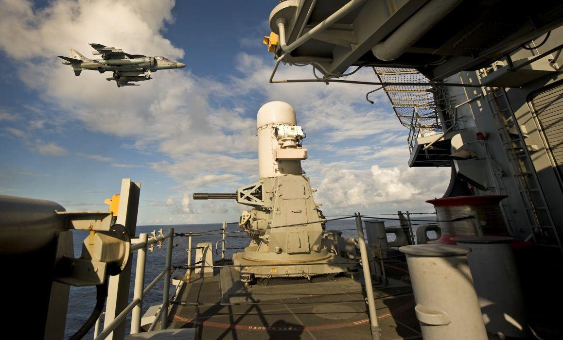 Military Jet Ship Harrier fighter jets ocean wallpaper
