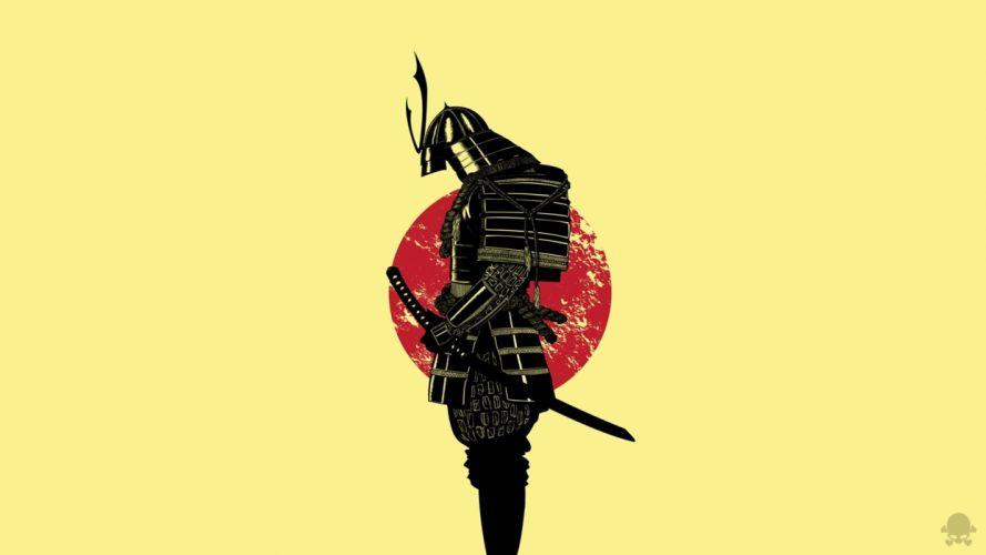 Samurai warrior sword wallpaper