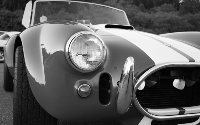 Shelby Corbra supercars muscle cars monochrome greyscale wallpaper