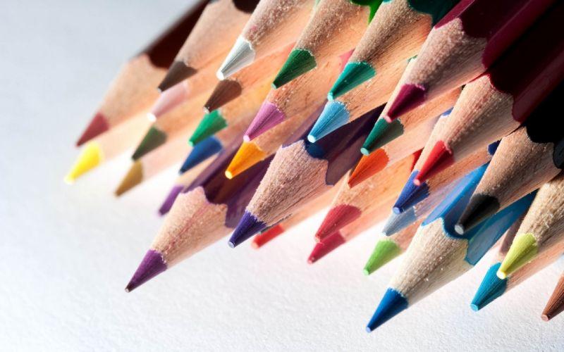 pencil drawing color wallpaper