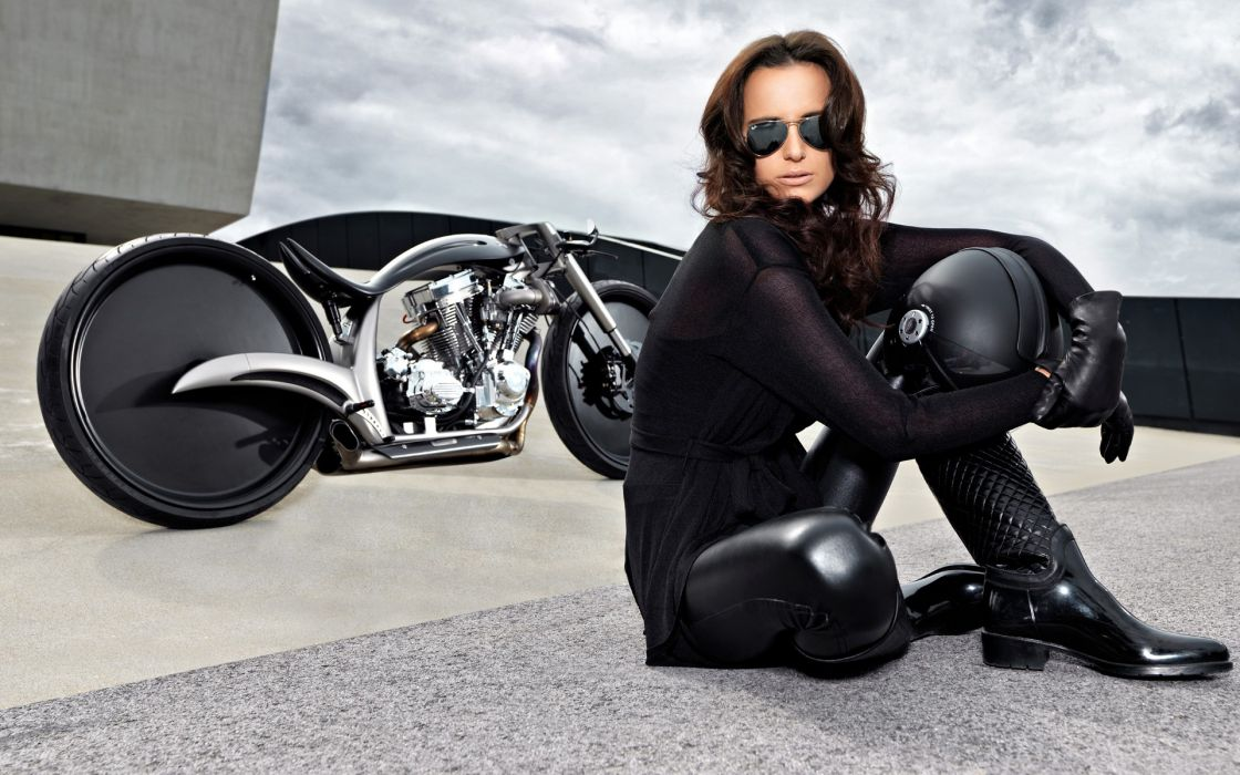 women females girls sexy babes motorcycle custom wallpaper