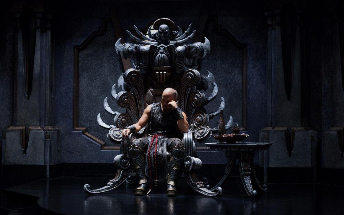 Vin Diesel Riddick Throne wallpaper