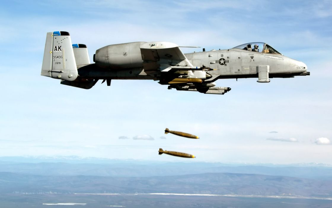 A-10 Airplane Plane military weapons thunderbolt soldiers bombs weapons wallpaper