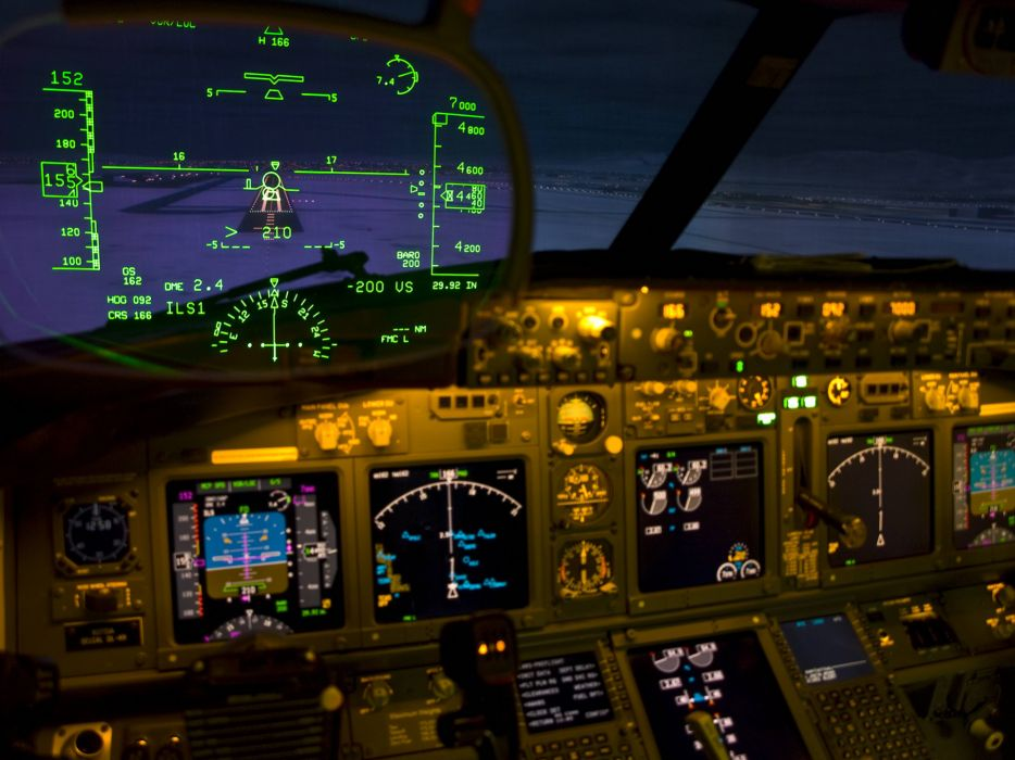 Heads-Up Display Cockpit airplane military wallpaper