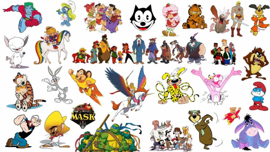 cartoons collage wallpaper