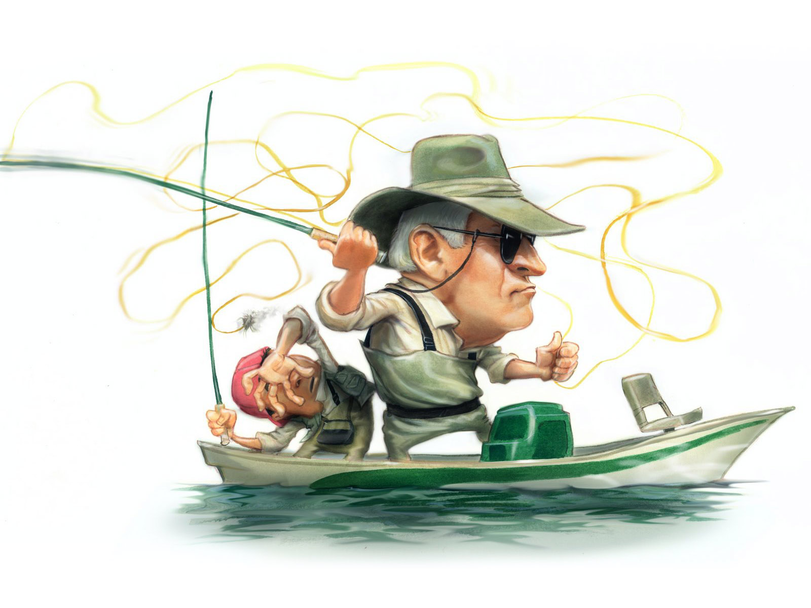 Cartoons Humor Fishing Sports Wallpaper 1600x1200 46514 Wallpaperup