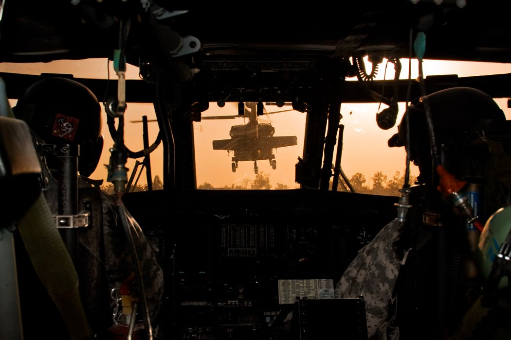 Cockpit Helicopter Pilot soldiers military wallpaper
