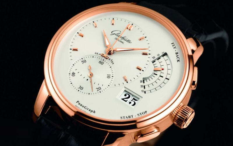 glashutte dial clock time hands watch wallpaper