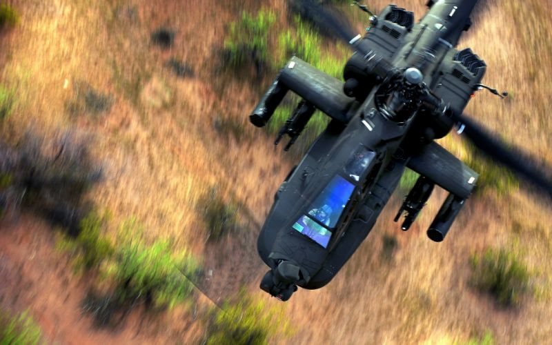 Helicopter AH-64 Apache military pilot soldiers wallpaper