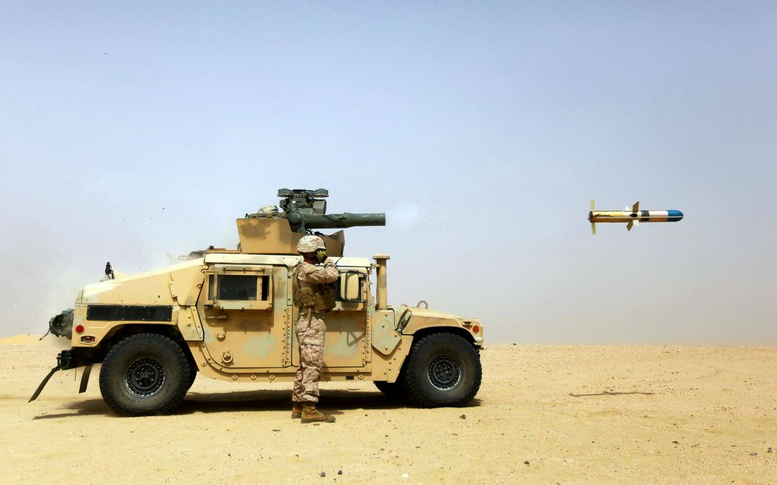 Hummer Soldier Missile Stop Action military weapons wallpaper