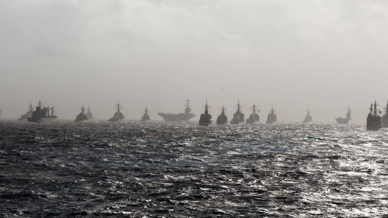 Battleship Ships Ocean Aircraft Carrier Navy Fleet military wallpaper