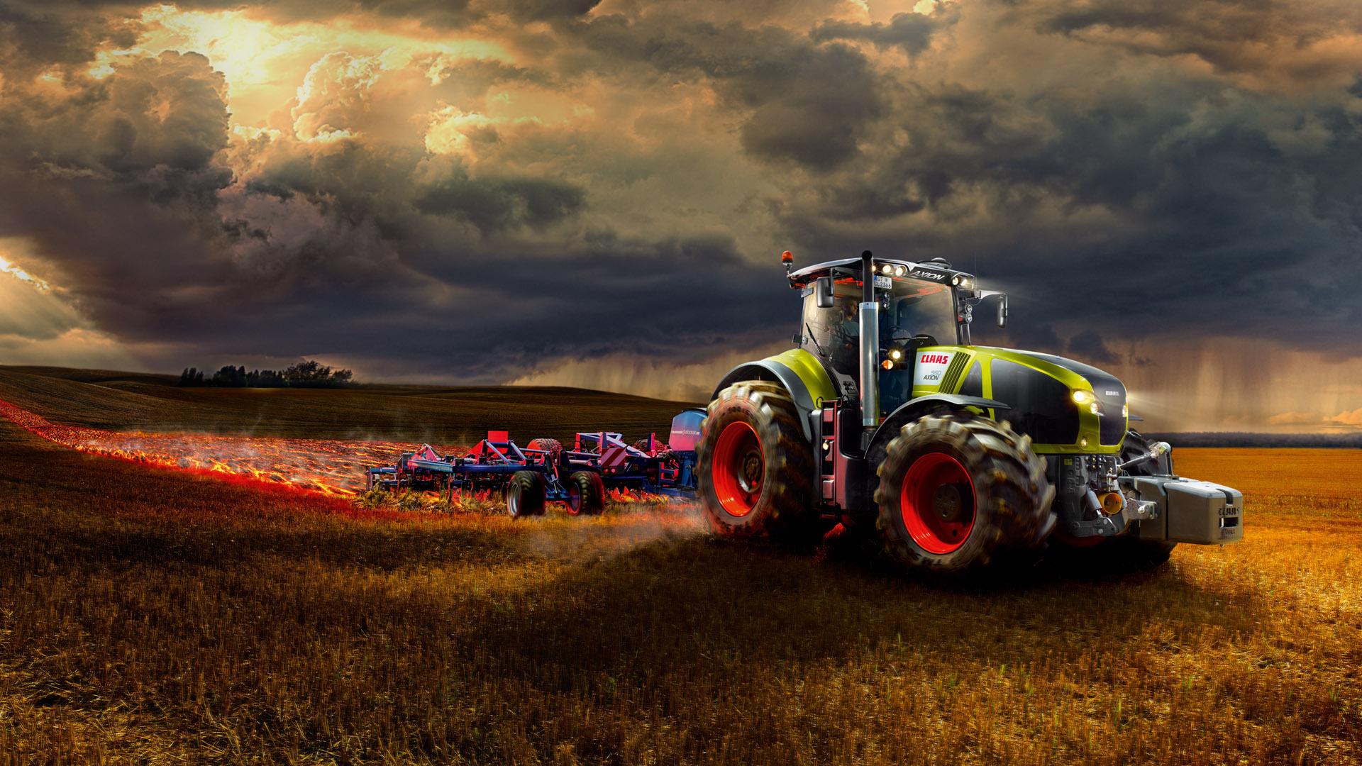 Farm Tractor Wallpaper Claas Axion 900 Tractor Farm