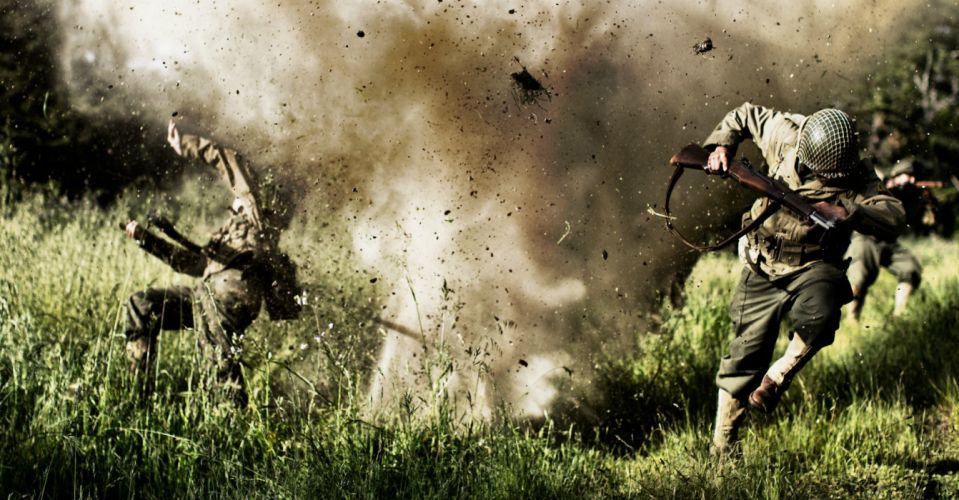Explosion Soldiers military wallpaper