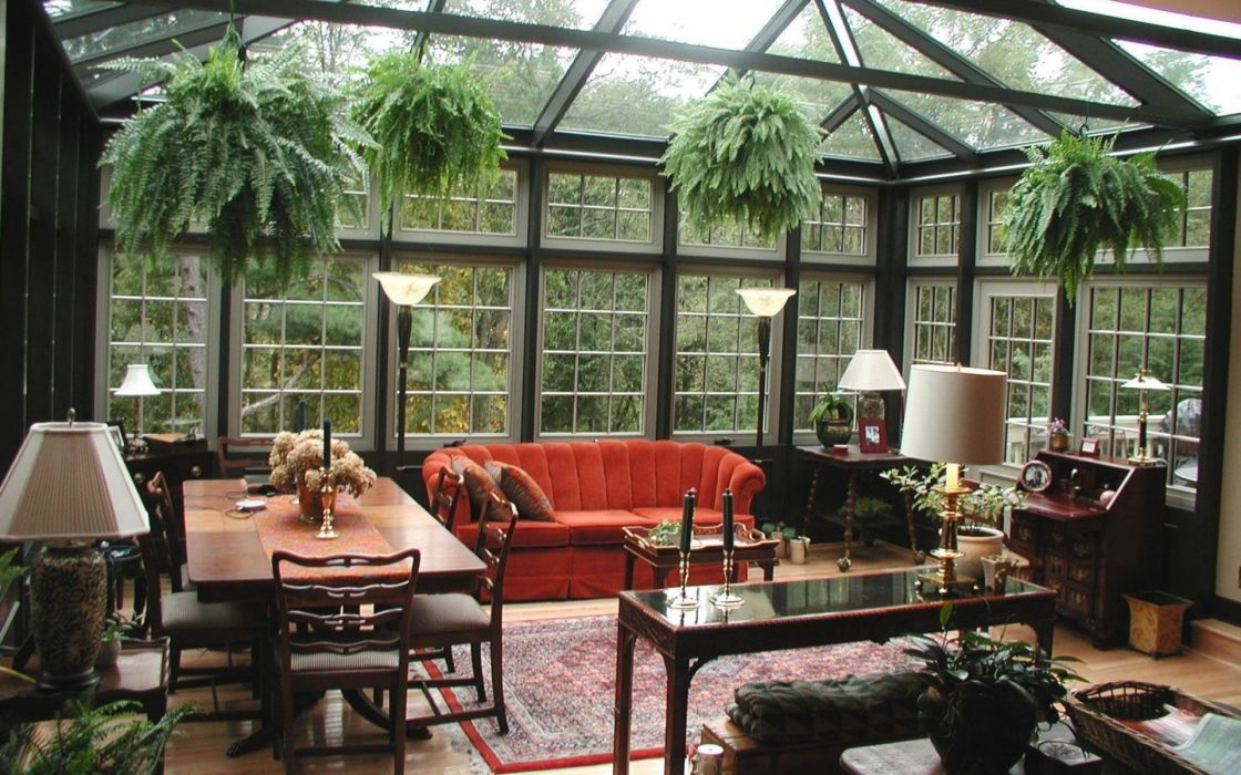 interior patio style design room furniture wallpaper
