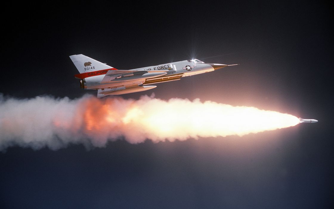 Jet Missile Convair F-106 Delta Dart fighter jets military wallpaper