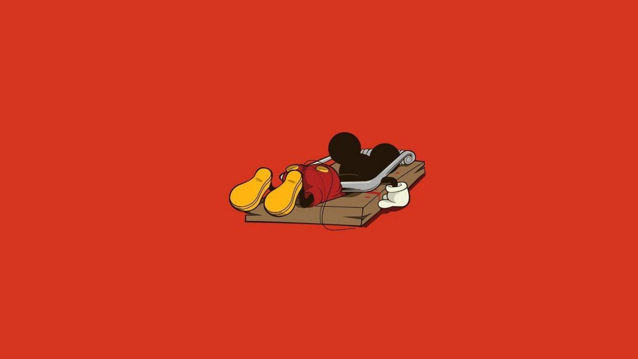 Mickey Mouse daek sadic humor wallpaper
