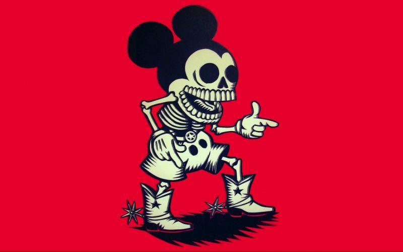 Mickey Mouse dark skulls wallpaper